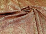 Metallic Brocade Fabric  Copper