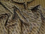 Woven Jacquard Fabric  Gold