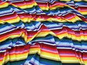 Rainbow Jersey Knit Fabric  Multicoloured