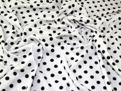 Spotty Jersey Knit Fabric  Black & White