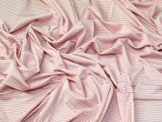 Stripe Jersey Knit Fabric  Salmon Pink