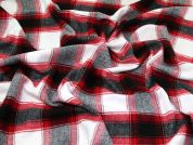 Wool Blend Coating Fabric  Red & Grey