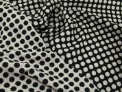 Reversible Wool Coating Fabric  Black & Ivory