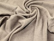 Wool Blend Coating Fabric  Taupe