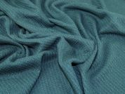 Wool Blend Coating Fabric  Teal