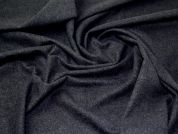Wool Blend Coating Fabric  Midnight