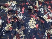 Floral Jersey Knit Fabric  Navy Multi