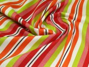 Linen Look Fabric  Multicoloured