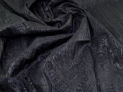Crinkle Shirting Fabric  Black