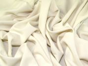 Stretch Crepe Fabric  Cream