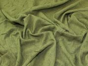 Crinkle Suiting Fabric  Green