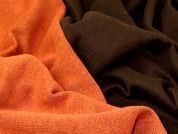 Sweater Knit Fabric  Brown & Orange