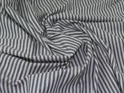 Cotton Shirting Fabric  Grey & White