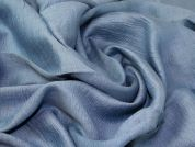 Crinkle Rayon Fabric  Blue