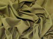 Linen Viscose Fabric  Olive Green
