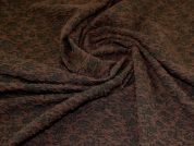 Textured Knit Fabric  Brown