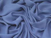 Polyester Crepe Fabric  Soft Blue