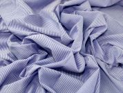 Woven Stripe Cotton Blend Shirting Dress Fabric  Blue & Lilac