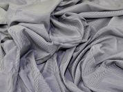 Woven Stripe Shirting Dress Fabric  Grey