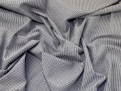 Stripe Crinkle Cotton Blend Shirting Dress Fabric  Grey