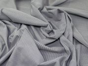 Woven Stripe Cotton Blend Shirting Dress Fabric  Indigo