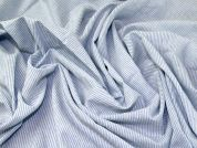 Woven Stripe Cotton Blend Shirting Dress Fabric  Pale Blue