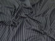 Pinstripe Jersey Knit Fabric  Black & White