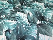 Tropical Jersey Knit Fabric  Teal