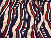 Stripe Scuba Crepe Knit Fabric  Multicoloured