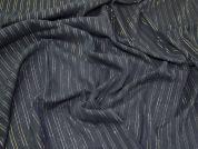 Lurex Stripe Cotton Voile Dress Fabric  Black & Gold