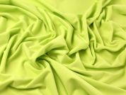 Superbright Plain Stretch Jersey Dress Fabric  Citrus Yellow Green
