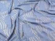 Crochet Effect Lace Dress Fabric  Blue