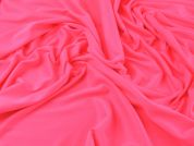 Superbright Plain Stretch Jersey Dress Fabric  Flo Pink