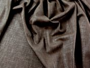 Plain Linen Look Textured Suiting Dress Fabric  Brown