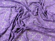 Floral Stretch Lace Dress Fabric  Purple