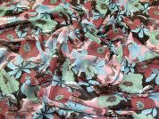 Floral Print Polyester Chiffon Dress Fabric  Multicoloured