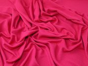 Textured Surface Stretch Jersey Knit Dress Fabric  Cerise Pink