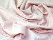Embossed Textured Pattern Stretch Jersey Knit Dress Fabric  Peach