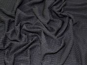 Textured Patterns Stretch Jersey Knit Dress Fabric  Black