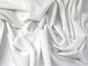 Textured Surface Stretch Jersey Knit Dress Fabric  White