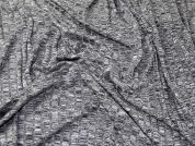 Variegated Thread Stretch Jersey Knit Rib Dress Fabric  Grey