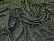 Slinky Stretch Jersey Knit Rib Dress Fabric  Dark Green