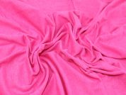 Viscose Stretch Jersey Dress Fabric  Cerise Pink