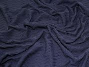 Pintuck Wavy Stitch Lines Stretch Jersey Knit Dress Fabric  Navy Blue