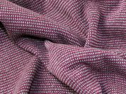 Heavy Chunky Knit Dress Fabric  Pink & Grey