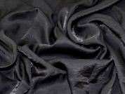 Plain Shimmer Finish Polyester Crepe Dress Fabric  Black