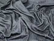 Surface Texture Printed Crackle Velour Knit Dress Fabric  Forest Green