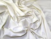 PVC Coated Stretch Jersey Knit Dress Fabric  Ivory