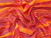 Woven Stripe Polyester Voile Fabric