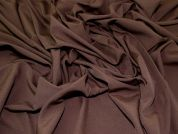 Plain Woven Polyester Suiting Dress Fabric  Chocolate Brown